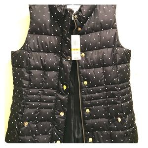 NWT Charter Club Polka Dot Quilted Vest